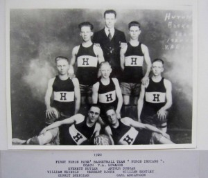 Huron 1920 Basketball First Boys