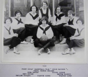 Huron 1920 Basketball First Girls